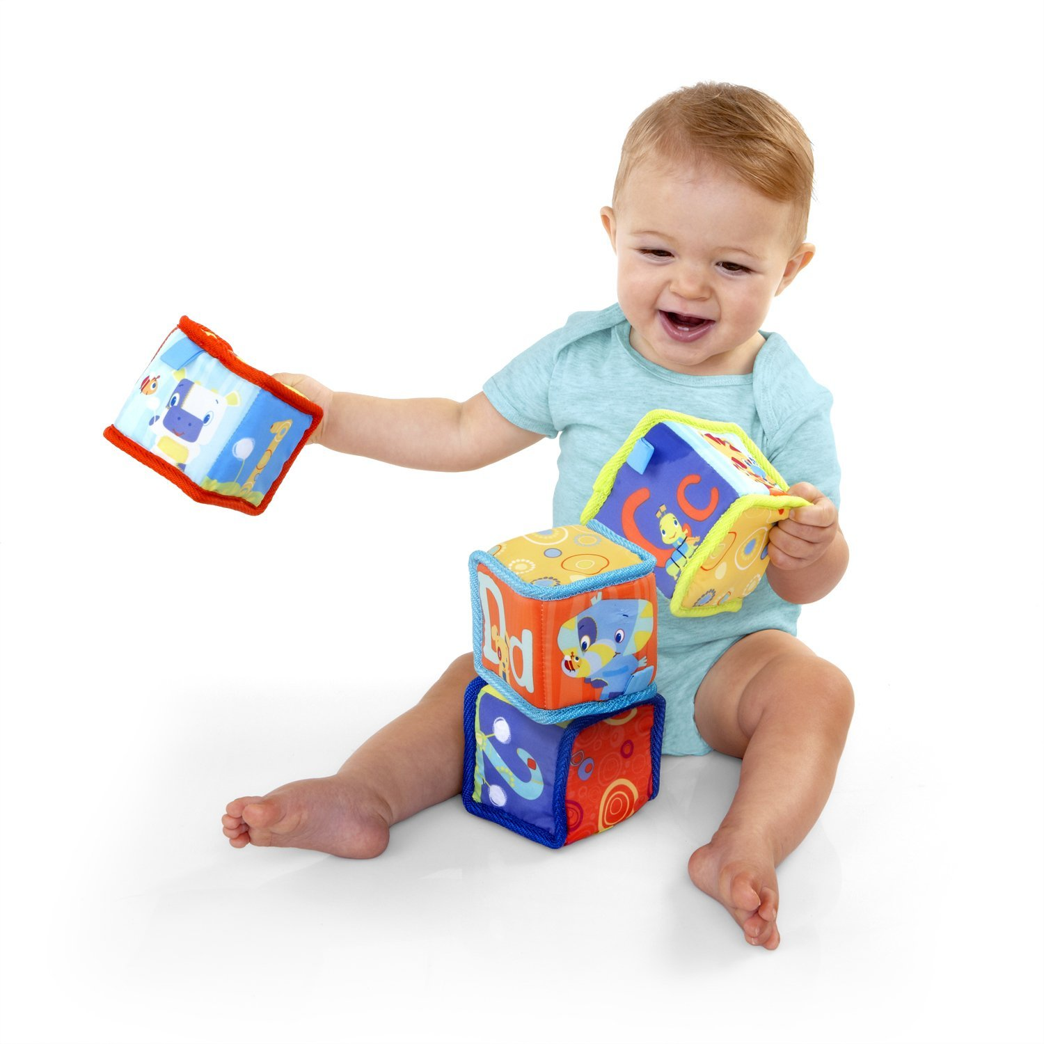 Building Toys For Babies : Amazon bright starts grab and stack blocks only
