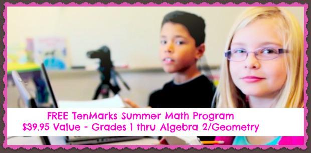 TenMarks Free Summer Math Program