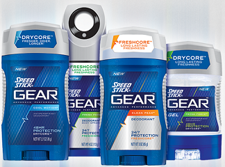 Speed Stick Gear Antiperspirant Deodorant Products