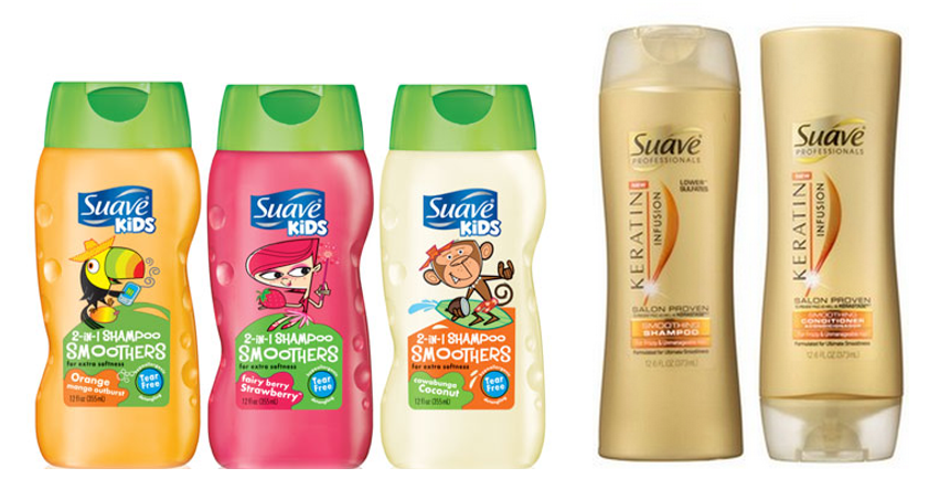 Suave Kids 2-in-1 Shampoo Smoothers and Suave Professionals Keratin Infusion Shampoo and Conditioner