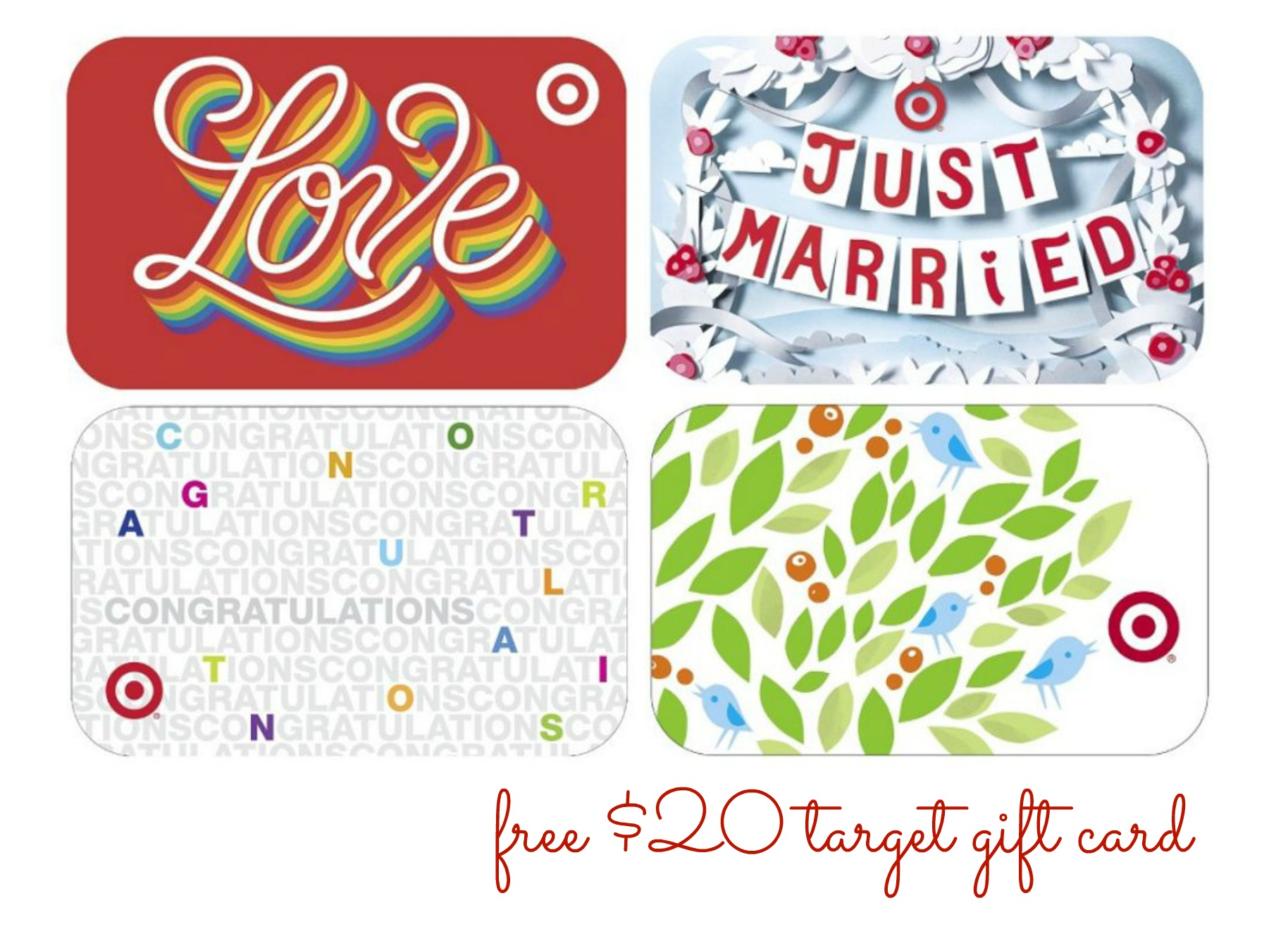 Target Wedding Registry Cards Printable Free USD20 target gift card with ...