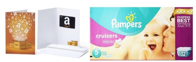 Pampers Diapers Amazon Gift Card Offer