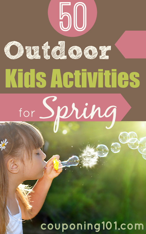 Take advantage of the beautiful Spring weather with these 50 FUN Outdoor Activities for Kids!