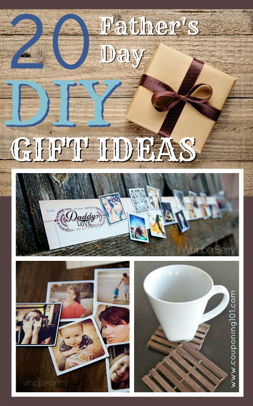 20 Father's Day DIY Gift Ideas | Homemade gifts are so thoughtful and meaningful. This list has some simple and fun gifts that Dad will love - pallet coasters, mustache mugs, beard conditioning oil and more!