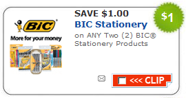 photo relating to Bic Printable Coupons named Bic Faculty Elements Printable Coupon - Couponing 101