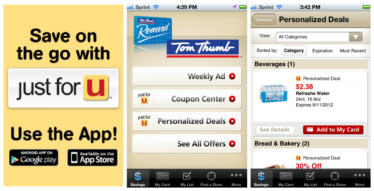 safeway tom thumb new just for u personalized savings program