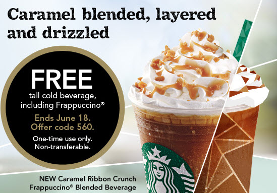 photograph about Starbucks Coupon Printable identified as Starbucks: Totally free Tall Chilly Beverage Coupon (Starbucks Benefits
