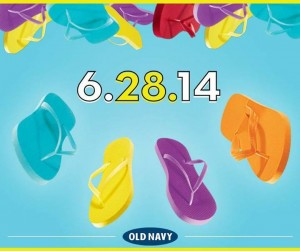 Old Navy $1 Flip Flops Sale 2014