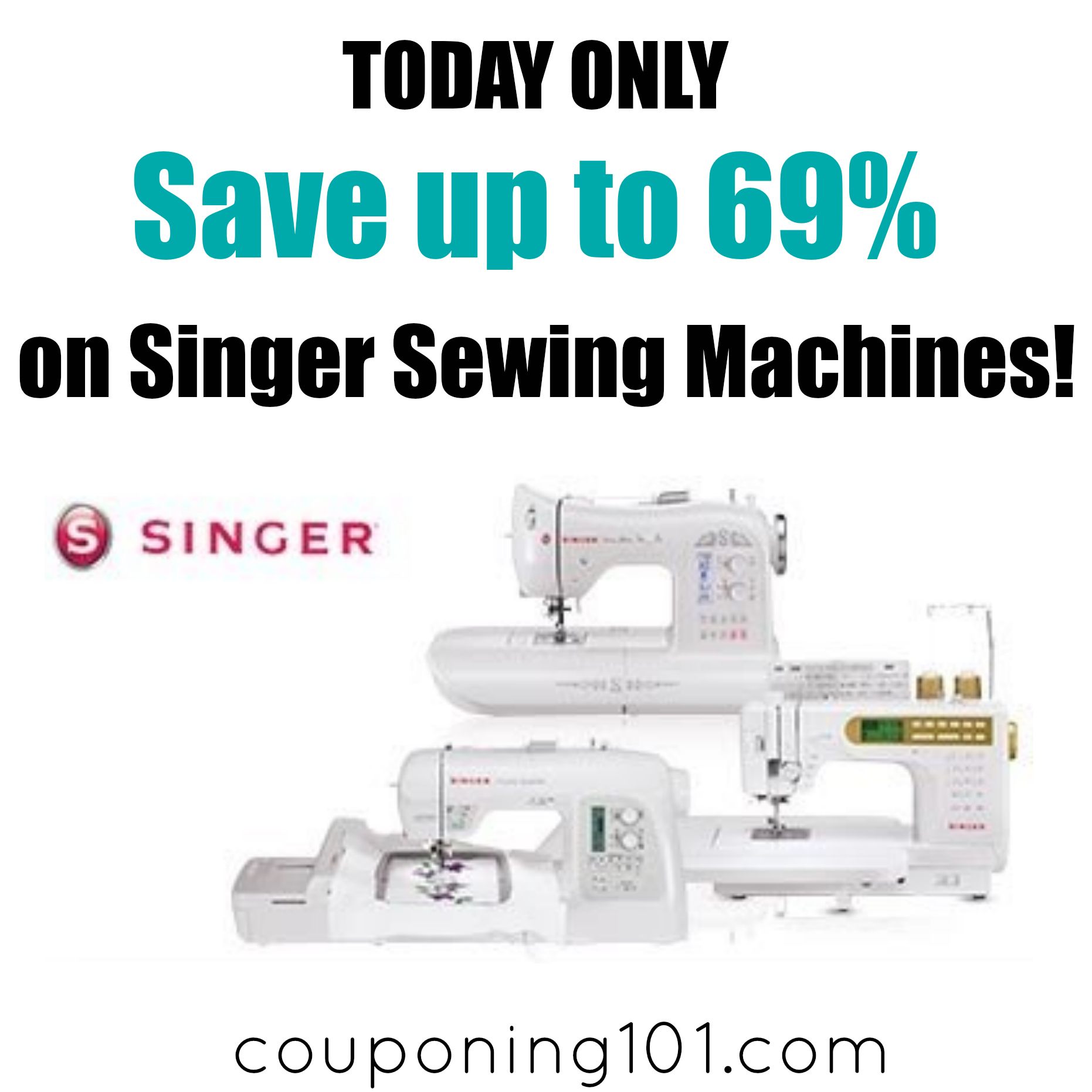 Save up to 69% on Singer Sewing Machines - today only!!