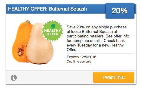 20% off Butternut Squash Coupon